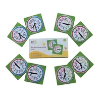 Easy Read Time Teacher Tell the Time Cards 5-7yrs