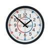 Easy Read Time Teacher Classroom Clock 35cm - Red/Blue Face