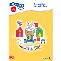 Arts and Crafts with Teddy bear Learning Cards for LOGICO Primo Board