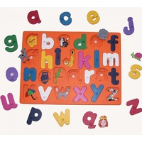 Wooden Letter Board Puzzle (Lowercase Letters)