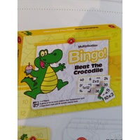 Beat the Crocodile Bingo - Multiplication 6+ by Learning Can be Fun