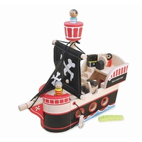 Jolly Jacks Wooden Toy Pirate Ship by Im Toy