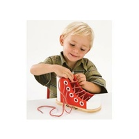 Wooden Lacing Sneaker-Shoe by Melissa and Doug - MND3018