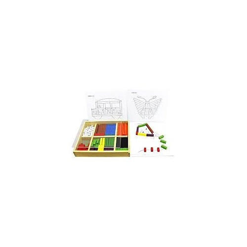 Wooden Cuisenaire Learning Counting Rods by Qtoys