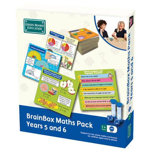 Brainbox Maths Pack - Years 5 and 6 - by Green Board Education - Ages 7 to 11