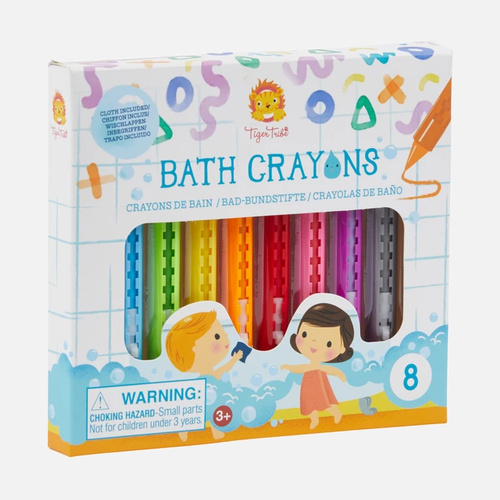 Pack of 8 Bath Crayons by Tiger Tribe - Ages 3+