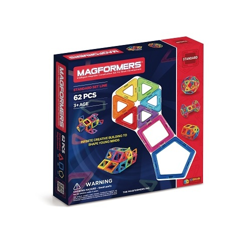 Magformers 62 piece basic set magnetic tiles